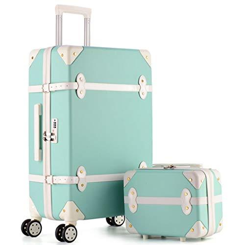 LXIANGP Vintage Gepäck Set Trolley Spinner Koffer Hardshell Reisetasche 20/22/24/26 Zoll und 12 Zoll Handtasche Set Mit TSA Schlössern Hohe Kapazität (Color : Dd, Size : 20inch) -