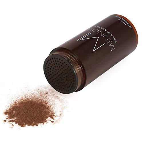 Polvo para engrosamiento del cabello - 4 tipos, mujeres, hombres, calvicie, corrector, engrosamiento del cabello, fibras para el polvo (Color : Medium Brown)