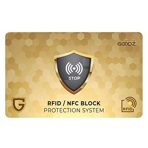 Protection RFID/NFC pour Cartes de crédit Contre Le vol, Portefeuille Homme et Femme: Protection Anti-RFID pour Cartes de crédit, de paiement bancaire - Portefeuille protégé - (1 Carte)