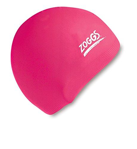 Zoggs Badehaube Cap Standard - Gorro de natación, color rosa, talla L