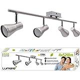 Lumare LED Deckenleuchte 4x 5W schwenkbar inkl. Leuchtmittel 4 Flammig GU10 Deckenlampe Deckenstrahler warmweiss