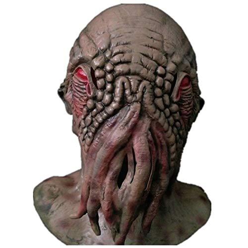 WenBin Halloween Maske, Mystery Doctor Maske Jude Tierkopfbedeckung Latex Alien Monster Octopus Maske Octopus Halloween Dress (Tragen Jude Kostüm)
