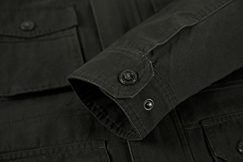 YYZYY Homme Cotton Militaire Air force Veste Manteaux Blousons Mode décontractée Men's Military Air Force Jackets Bleu Marine