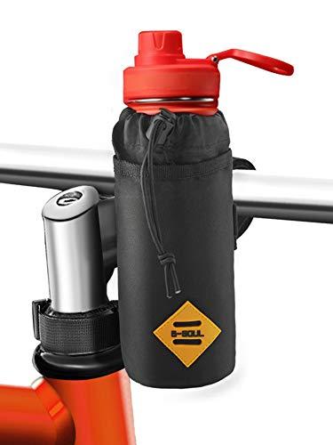 Cocoda Flaschenhalter Fahrrad, Leichter Getränkehalter Kinderwagen Fahrrad mit Stabil Dreieckigen Fahrradrahmen & Lenkerbefestigung-Design, Isolierte Fahrradtasche Lenker für Getränke, Essen, Snack -