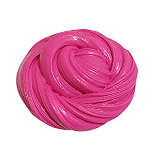 TWIFER Fluffy Floam Slime Duft Stress Relief Keine Borax Kinder Spielzeug Schlamm Spielzeug (Heißes Rosa)
