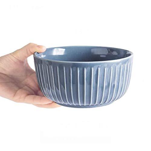 Home Kreativität Geschirr Suppenschüssel, Europäische Blau Grau Retro Keramikschale Haushaltsreisschale Haferbrei Schüssel für Home Küche Restaurant Geschirr Obst Snack Schüssel Dessert Schüssel für