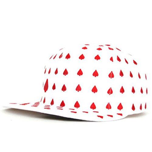 Berretto da Baseball delle signore/Versione coreana di tappi fantasia Poker/Gli amanti lungo i cappelli (Signore Blu Visor)