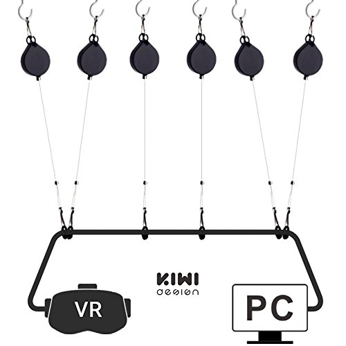 HTC Vive and Pro Cable Managment | Deckenaufhängesystem für HTC Vive und HTC Vive Pro Virtual Reality/Oculus Rift/Sony Playstation/Microsoft Mixed Reality Headset HTC Vive Zubehör (6 Packs) (Managment System)