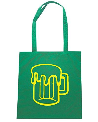 T-Shirtshock - Borsa Shopping FUN0740 beer mug vinyl die cut decal 2 24674 Verde