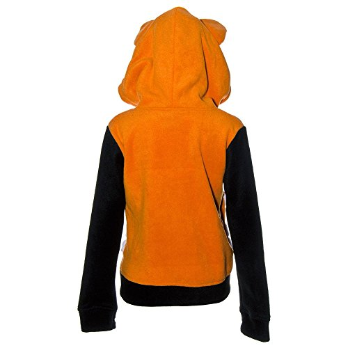 Cupcake Cult Damen Kapuzenjacke mit Ohren - Foxy Hoodie Fleecejacke Orange Orange