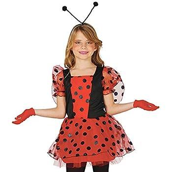Coccinella Ballerina Costume di Carnevale in Busta Bambina Rossa e Nera joker 997655//56-S