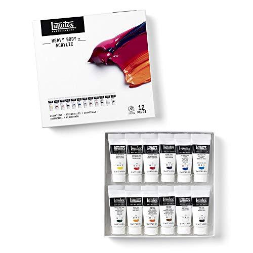 Liquitex Heavy Body - Pintura acrílica (473 ml), Essentiels, 12 Farben Set - Acrylfarbe