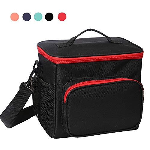 Esonmus borsa termica pranzo, borse frigo piccola cibo alimentazione con grande capacità e maniglia durevole lunch box per campeggio lavoro scuola picnic 10l (rosso)