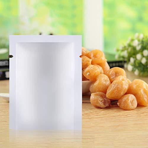 100pcs Aluminiumfolie Mylar Beutel Vakuumierer Lebensmittel Aufbewahrungspaket Beutel kochbar Gefrier- und wiederverwendbar Hohe Reflexion - Silber - Vakuum Gefrier-beutel