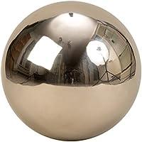 Moderna decorazioni da giardino sfera in acciaio inox d'argento del diametro di 30 cm