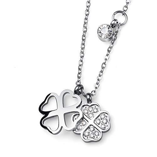 L'angolo barletta oliver weber collana pendente fourleaf cristallo swarovski regalo san valentino