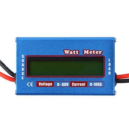 Digital LCD Yosoo 60 V/100 A Potencia voltaje Vatímetro Inspector spacelabs Balance de la batería