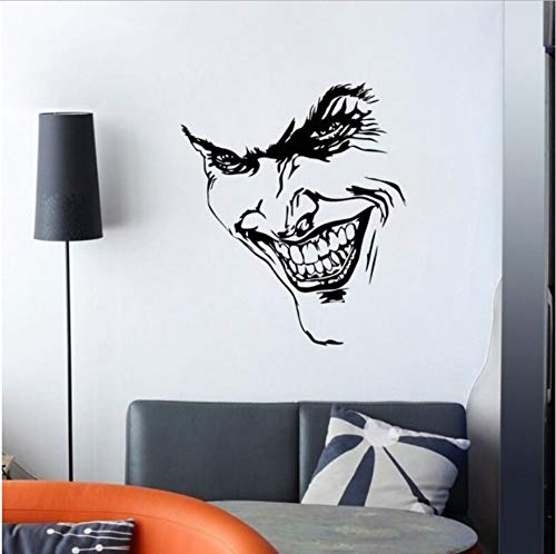 Wall Sticker Devil Face Wall Sticker Pvc Vinyl Decal Style Home Room Decor Devil Face Look Wall Art Mural Home Decor Poster Wall Decals 114X132Cm