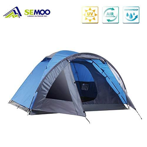 Semoo tenda campeggio impermeabile per famiglia, 4 persone, 4 stagioni, ingresso d, con zanzariera, inclusa la borsa per il trasporto