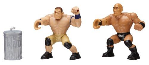 WWE - Power Slammers - John Cena & The Rock - 2 Figurines Mécanique