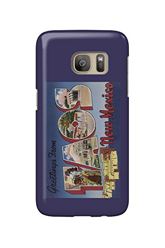 Greetings from Taos, New Mexico (Galaxy S7 Cell Phone Case, Slim Barely There) (Mexico Taos New)