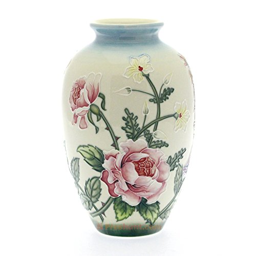 Old Tupton Ware - English Garden 8 Inch Vase