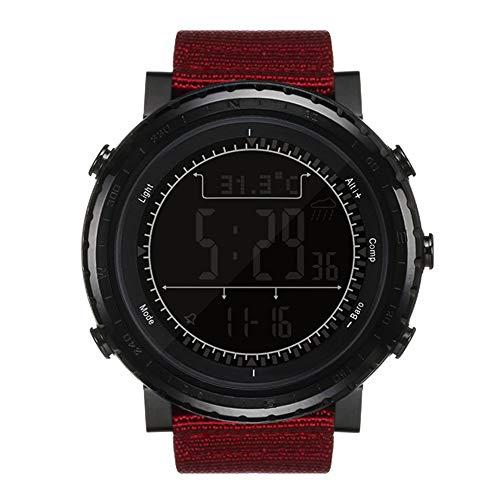 NORTH EDGE Herren Military Multifunktions Digital LED Hintergrundbeleuchtung Armbanduhr Elektronischer Wasserdicht Stoppuhr Alarm Sportuhr