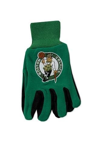 NBA Boston Celtics Two-Tone Gloves, Green/Black