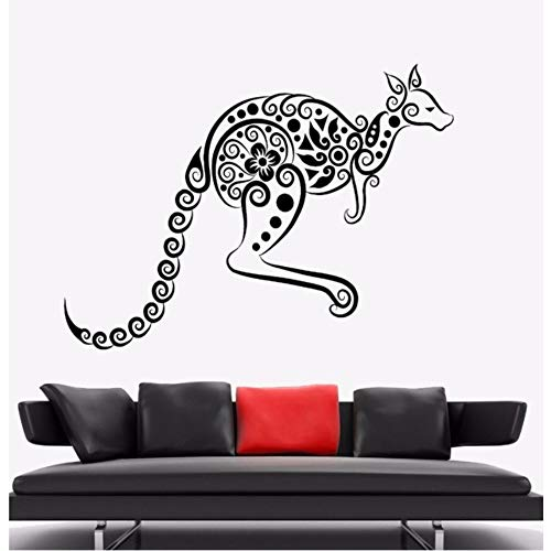 Fushoulu 42X31 Cm Wandaufkleber Känguru Tier Vinyl Wandtattoo Australien Ornament Wandkunst Wandhaupt Wohnzimmer Dekor Känguru Vinyl ()