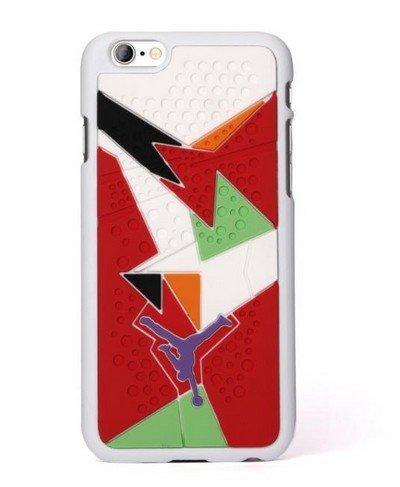 Coque style semelle de Air Jordan 7 pour Apple iPhone 6Plus WHITE ORANGE BLACK