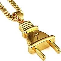 nyuk nuovo arrivo da uomo Hip Hop ciondolo originale spina jewelry Oro 18K Collana - Pink Ribbon Dog Tag