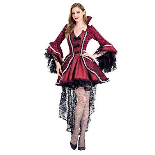 Billig Kostüm Erwachsene Für Sexy - Bluelucon Damen Halloween Sexy Hexe Vampire Kostüme Erwachsene Frauen Königin Karneval Party Cosplay Kostüm Bühnenkostüm Cosplay Karneval Party Halloween Fest Damenkostüm