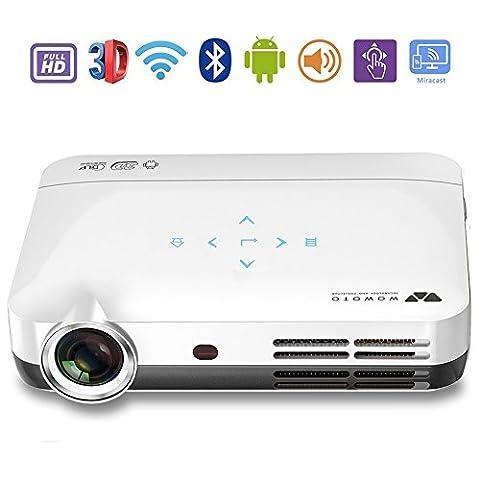 Mini HD Projector Beamer, Foxcesd H9 Full 1080P HD 3D