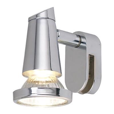 Eglo Spiegelleuchte / Modell Sticker / Stahl / GU10 / 1x 50 Watt / Leuchtmittel inklusive / 5.5 cm lang / 9.5 cm hoch / chrom 85825 von EGLO auf Lampenhans.de