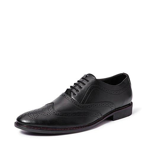Symbol Men's Black Formal Brogue Shoes- 8 UK/India (42 EU)(AZ-KY-87A)