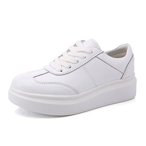 Petites chaussures blanches/Chaussures plateforme/Sport et chaussures de loisirs/Plat de souliers pour dames B