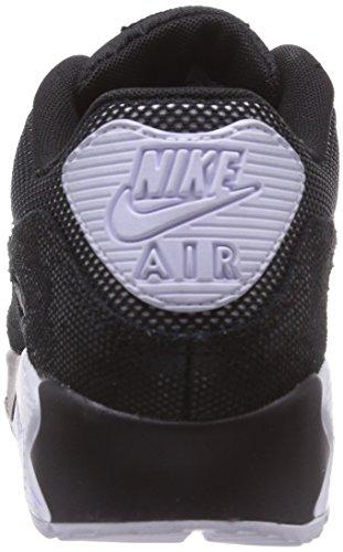 Nike  Air Max 90 Premium, Sneakers Basses femme Noir - Schwarz (Black/White/Metallic Silver 005)