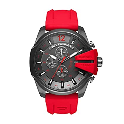 Diesel Analogue Red Silicone Men's Watch