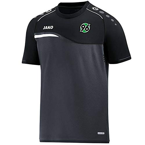 JAKO Hannover 96 T-Shirt Competition 2.0 anthrazit-schwarz anthrazit/schwarz, XL
