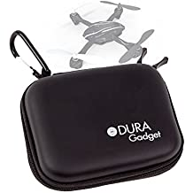 DURAGADGET Funda Negra Rígida Para Drone Hubsan H107 - Con Mini Mosquetón