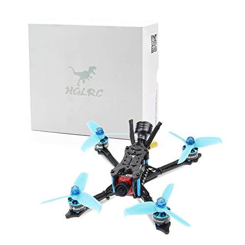 Cuadricóptero HGLRC Arrow 3 FPV Racing Drone 6S BNF con receptor Flysky A8S V2 Azul-Negro