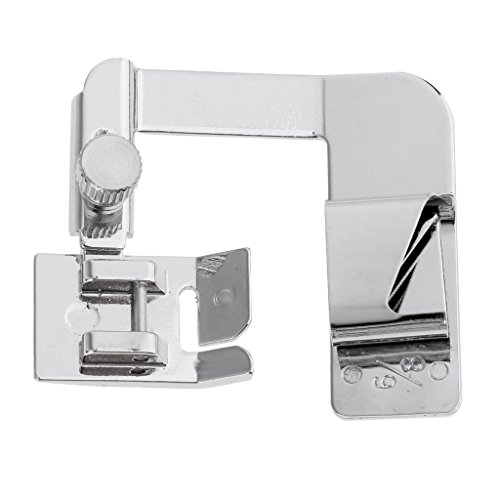 MagiDeal New Household Practical 4/8''inch/ 6/8inch Wide Rolled Hem Foot Hemming Presser Feet Domestic Sewing Machine Parts for Brother Singer - silver, 19mm