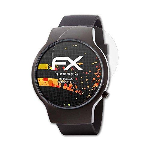 atFoliX Schutzfolie kompatibel mit Runtastic Moment Elite Bildschirmschutzfolie, HD-Entspiegelung FX Folie (3X)