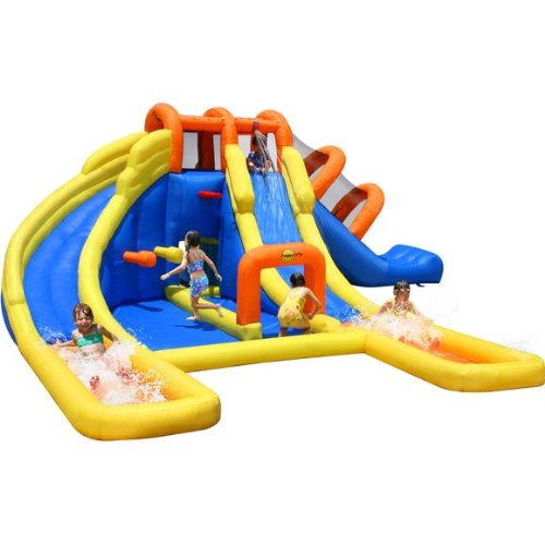 Mega Fun 24ft Water Park Bouncy Castle Inflatable Twin Water Slide