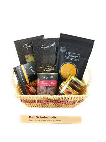 Schokoholic-Geschenkkorb - Besondere Geschenkkörbe - Delikatessen-Präsentkorb mit Schokolade von Fenkart