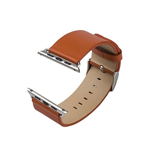 Armband für Apple Watch Series 3 / 2 / 1 38mm, Rosa Schleife Apple iWatch Lederarmband Replacement Wrist Band Watchband Strap Uhrband Uhrenarmband Ersatzband für Apple Watch Series 3 Series 2 Series 1 Sport Edition 38mm , Orange