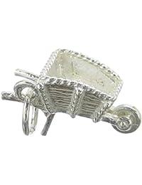Karabinerverschluß Anhänger Fine Charms & Charm Bracelets Sterlingsilber Rh 3-d Emaillierte Schubkarre W
