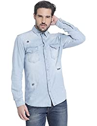 Jack & Jones Men's Solid Slim Fit Cotton Casual Shirt