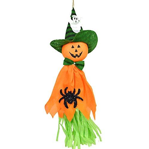 Hexe Dekor (HuntGold Hängend Halloween Geist Spuk Kürbis Hut Hexe Vogelscheuche Puppe Dekor Party Hausdeko)