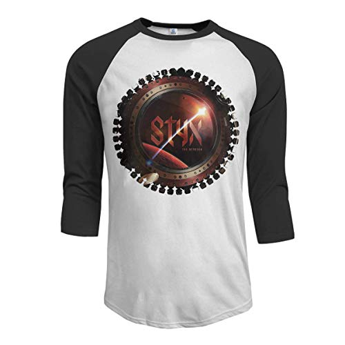 Pimkly Herren Tee T-Shirt, Men's Styx The Mission 3/4 Sleeve Raglan Baseball T Shirts Black -